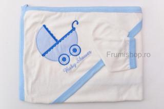 Prosop Baby Shower (bleu) - 100x75 cm