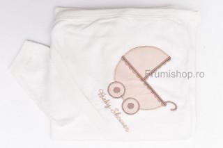 Prosop Baby Shower (crem) - 95x70 cm