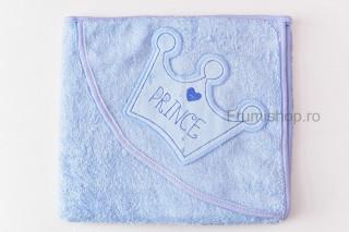 Prosop cu gluga - Prince (bleu) - 80x75 cm