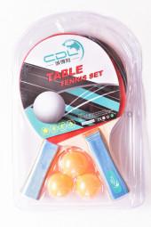 Set 2 palete tenis de masa + 3 mingi