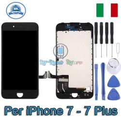 DISPLAY COMPLETO DI FRAME LCD E TOUCH PAD SCHERMO PER IPHONE 7 - 7 PLUS
