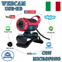 WEBCAM USB CON MICROFONO INTEGRATO QUALITA' HD