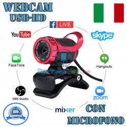 WEBCAM USB CON MICROFONO INTEGRATO QUALITA' HD