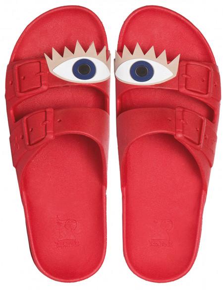 Sandale/papuci Olhos rosu