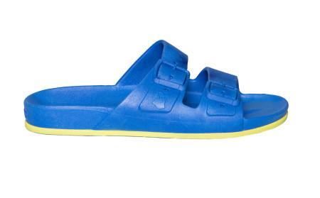 Sandale/papuci Brazilia albastru&galben