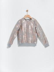 Bluza imprimata bronz