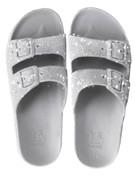 Sandale/papuci Trancoso argintiu