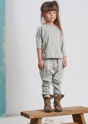 Pantaloni Button Grey Booso