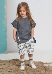 Tricou Linen Grey Booso