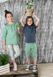 Pantaloni scurti verde