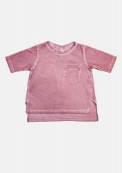 Tricou larg roz nude