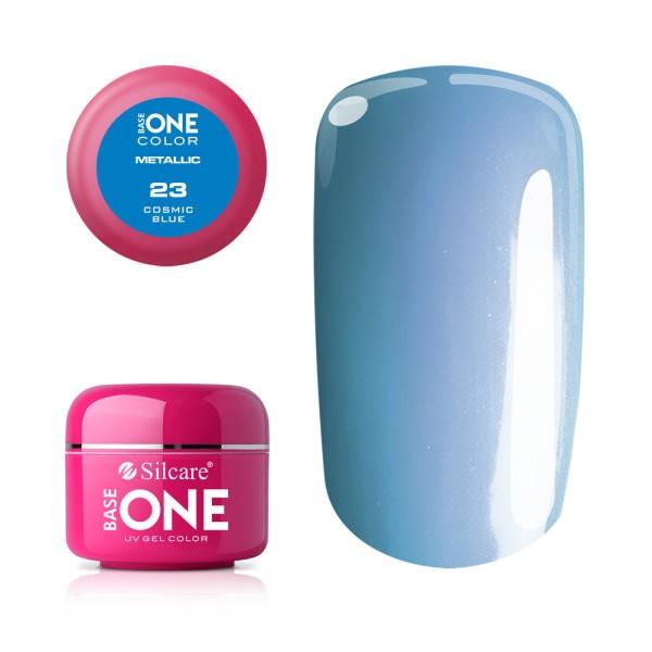 Gel UV Color Base One 5g Metalic Cosmic Blue 23 baseone.ro