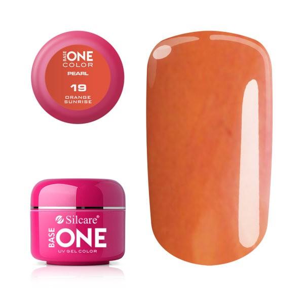 Gel UV Color Base One 5g Pearl 19 Orange Sunrise baseone.ro