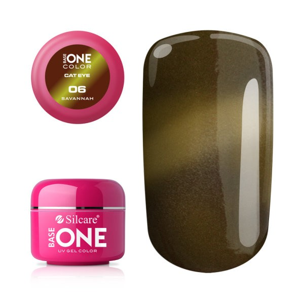 Gel UV Color Base One Silcare Cat Eye Magnetic Sawannah 06 baseone.ro