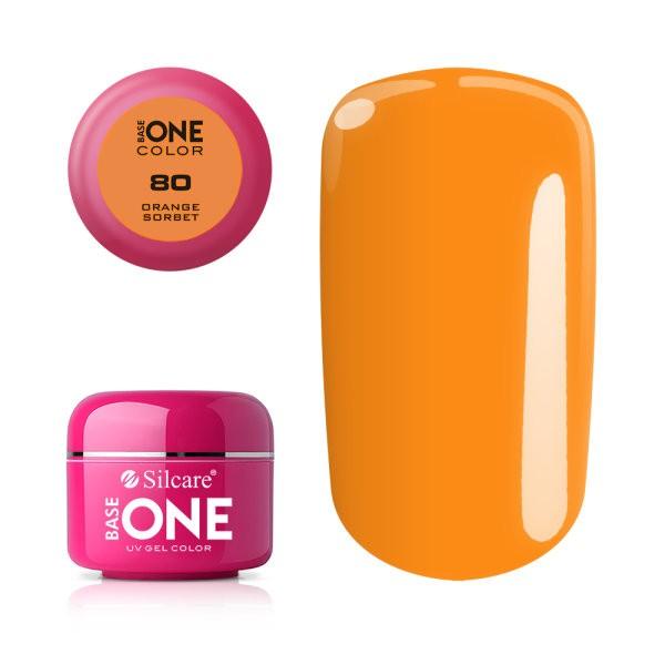 Gel uv Color Base One Silcare Clasic Orange Sherbet 80 baseone.ro