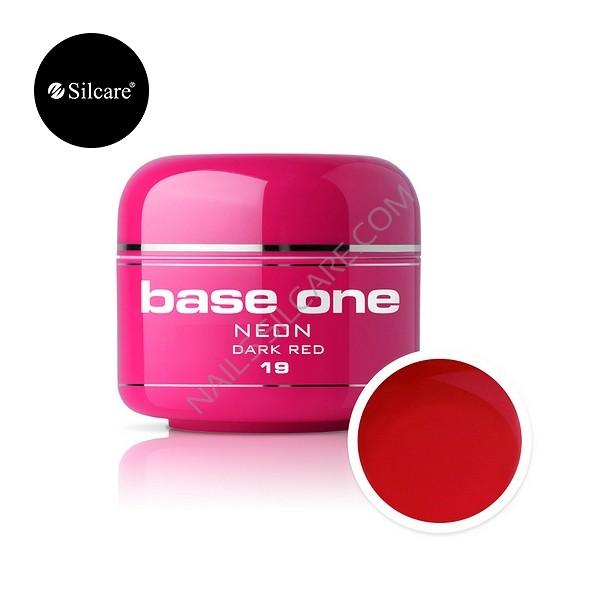 Gel UV Color Base One Silcare Neon Dark Red 19 baseone.ro