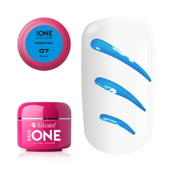 Gel UV Color Base One Silcare Paint Blue 07 baseone.ro