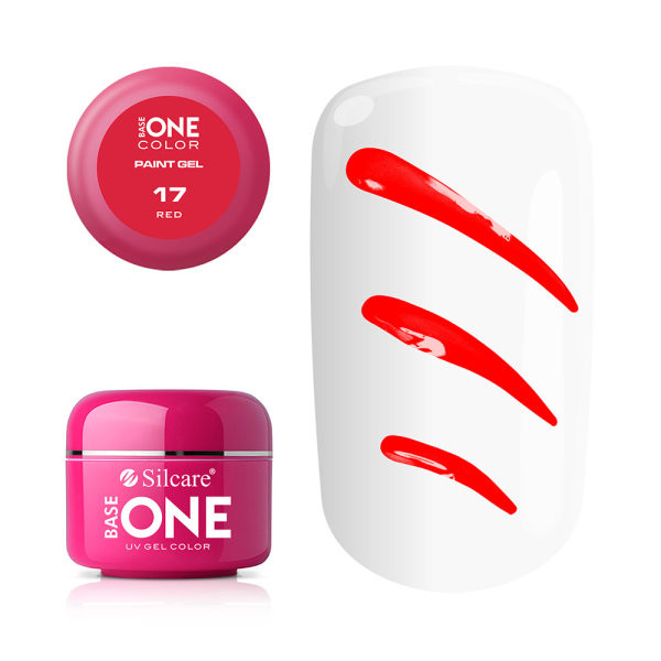 Gel UV Color Base One Silcare Paint Red 17 baseone.ro