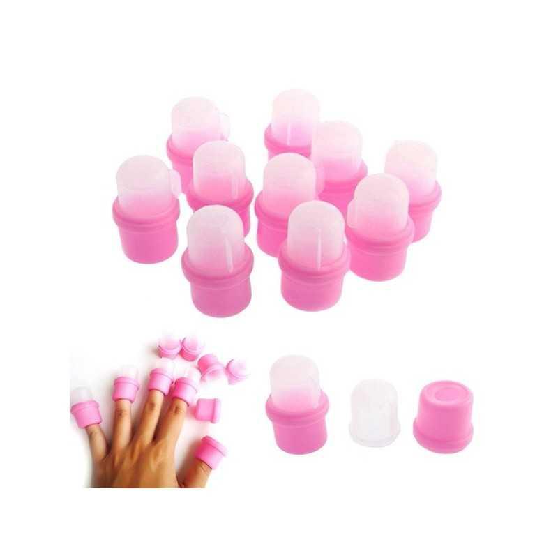 Capsule degete pentru indepartat oja semipermanenta set 10 baseone.ro