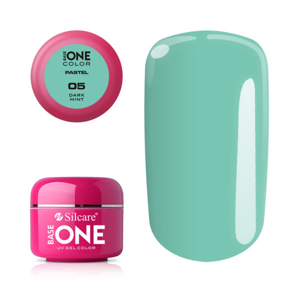 Gel UV Color Base One 5g Pastel 05 Dark Mint baseone.ro