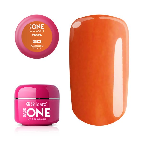 Gel UV Color Base One 5g Pearl 20 Passion_Fruit baseone.ro