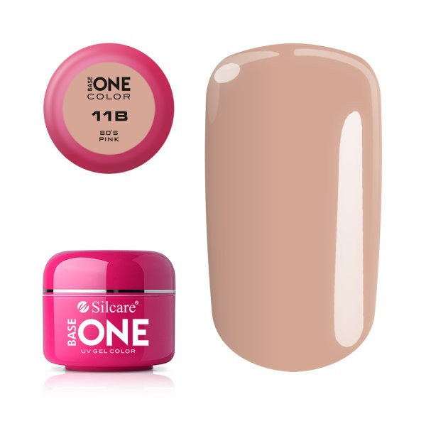 Gel uv Color Base One Silcare Clasic 80's Pink 11B baseone.ro