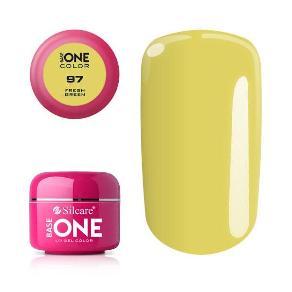 Gel uv Color Base One Silcare Clasic Fresh Green 97 baseone.ro