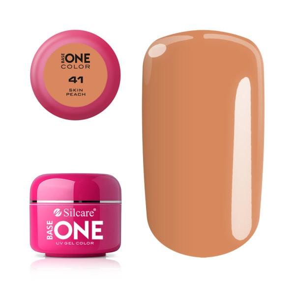 Gel uv Color Base One Silcare Clasic Peach Skin 41 baseone.ro