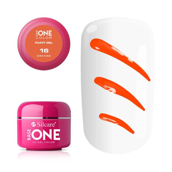 Gel UV Color Base One Silcare Paint Orange 16 baseone.ro