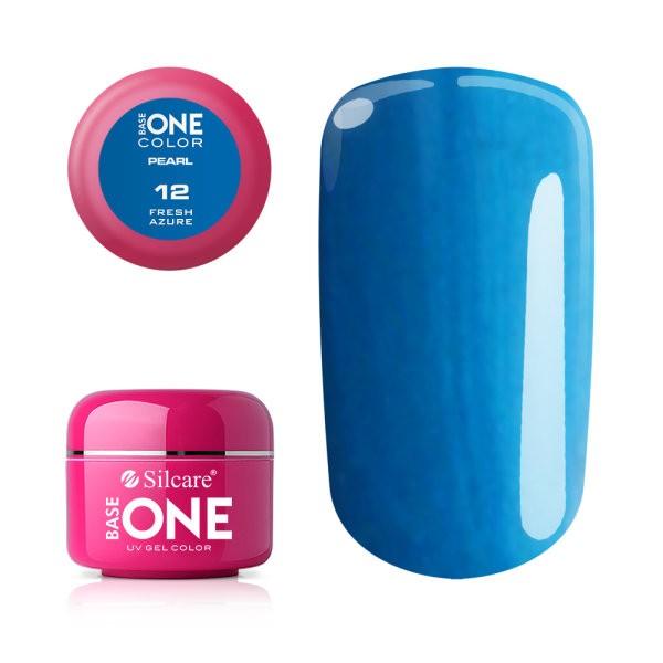Gel UV Color Base One 5g Pearl- Fresh Azure 12 baseone.ro