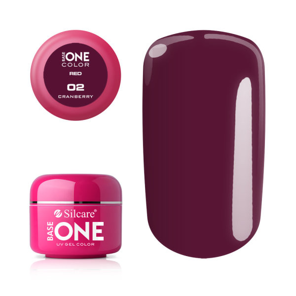 Gel UV Color Base One 5g Red Candy Cranberry 02 baseone.ro