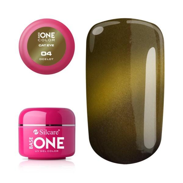 Gel UV Color Base One Silcare Cat Eye Magnetic Ocelot 04 baseone.ro