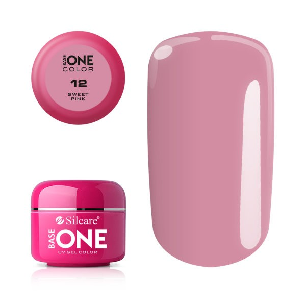Gel uv Color Base One Silcare Clasic Sweet Pink 12 baseone.ro