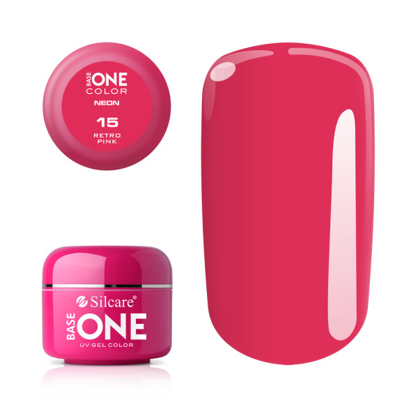Gel UV Color Base One Silcare Neon Retro Pink 15 baseone.ro