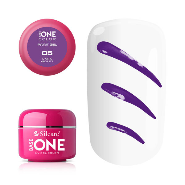 Gel UV Color Base One Silcare Paint Dark Violet 05 baseone.ro