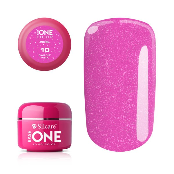 Gel uv Color Base One Silcare Pixel Barbie Pink 10 baseone.ro