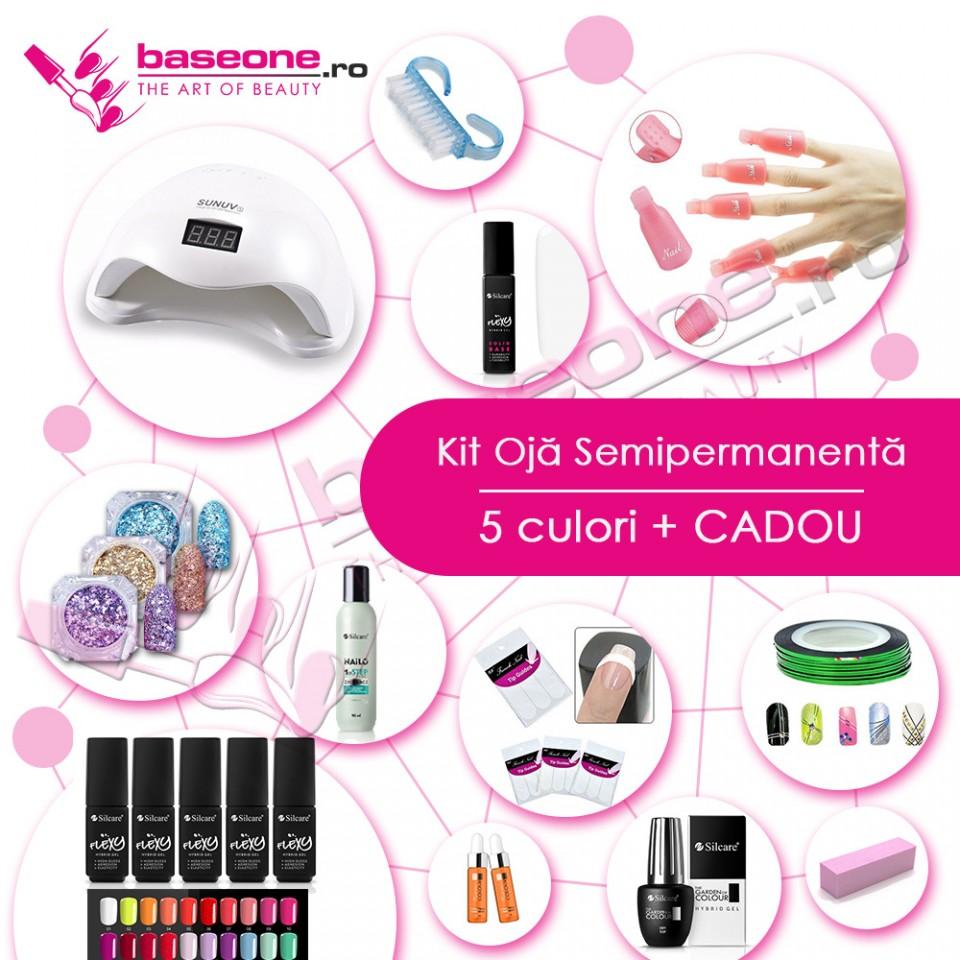 Kit unghii Oja Semipermanenta FLEXY SILCARE#2 baseone.ro
