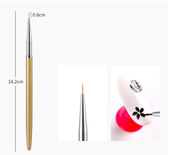 Pensula pictura maner auriu 0.6 cm baseone.ro