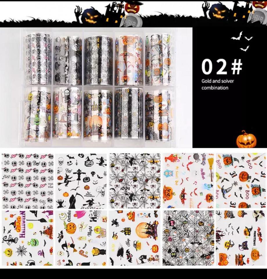 Set 10 folii transfer model Halloween 02 baseone.ro