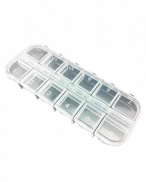 Cutie plastic depozitare decor 12 compartimente DU27A baseone.ro