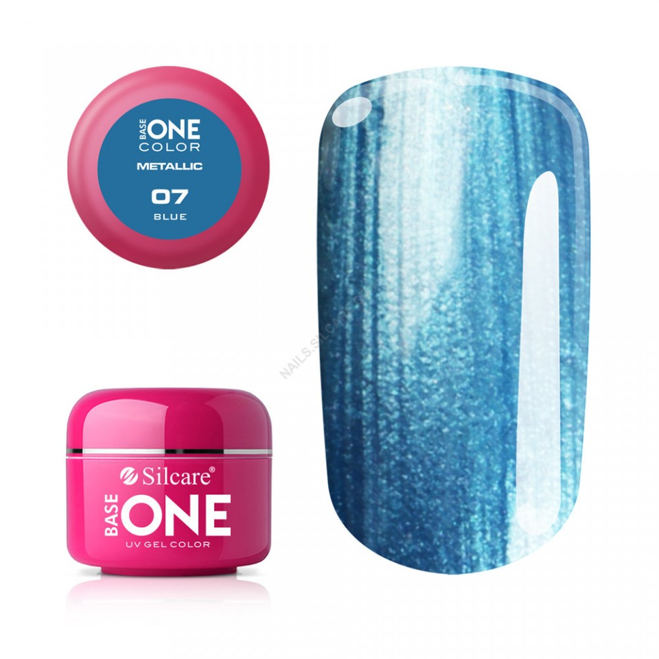 Gel UV Color Base One 5g Metalic Blue 07 baseone.ro