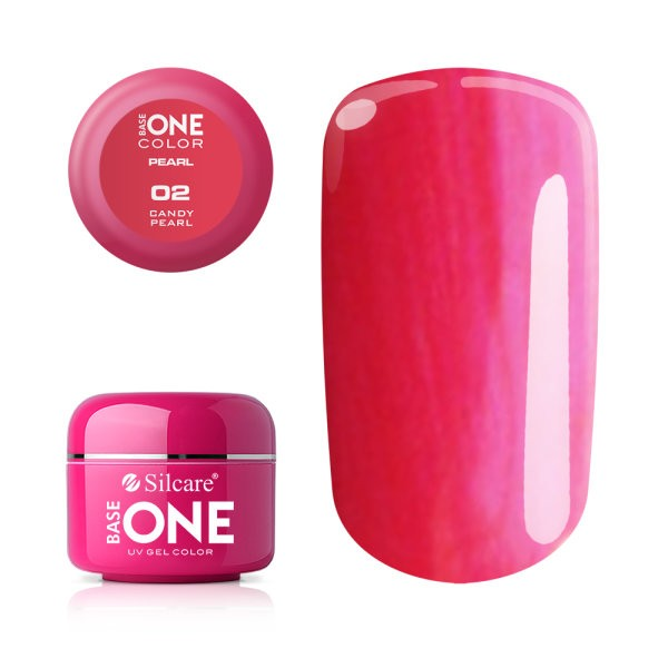 Gel UV Color Base One 5g Pearl 02 Candy Pearl baseone.ro