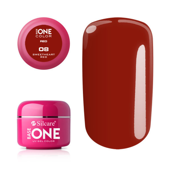 Gel UV Color Base One 5g Red Sweetheart Red 08 baseone.ro