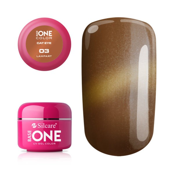 Gel UV Color Base One Silcare Cat Eye Magnetic Lampart 03 baseone.ro