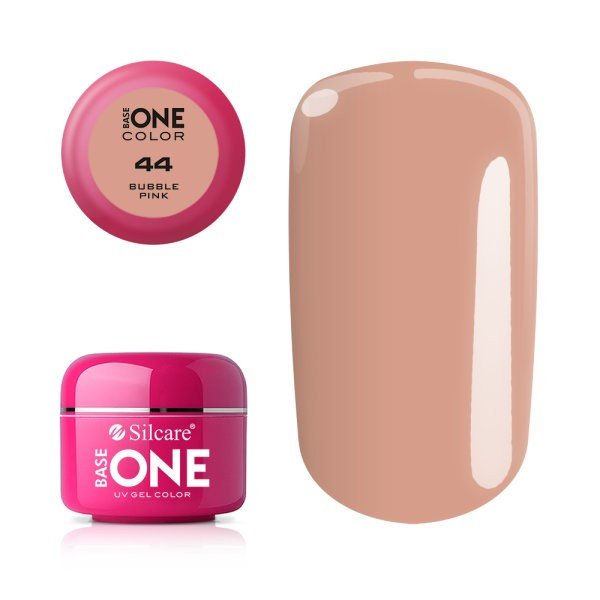 Gel uv Color Base One Silcare Clasic Bubble Pink 44 baseone.ro
