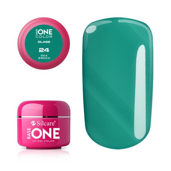 Gel uv Color Base One Silcare Glass Sea Green 24 baseone.ro
