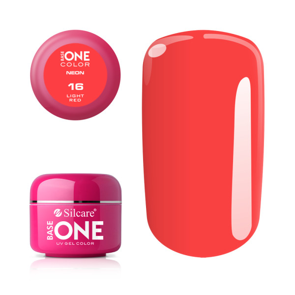 Gel UV Color Base One Silcare Neon Light Red 16 baseone.ro