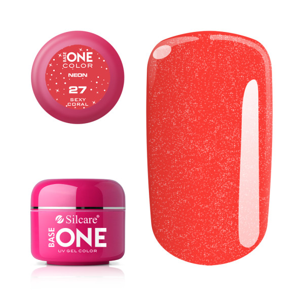 Gel UV Color Base One Silcare Neon Sexy Coral 27 baseone.ro