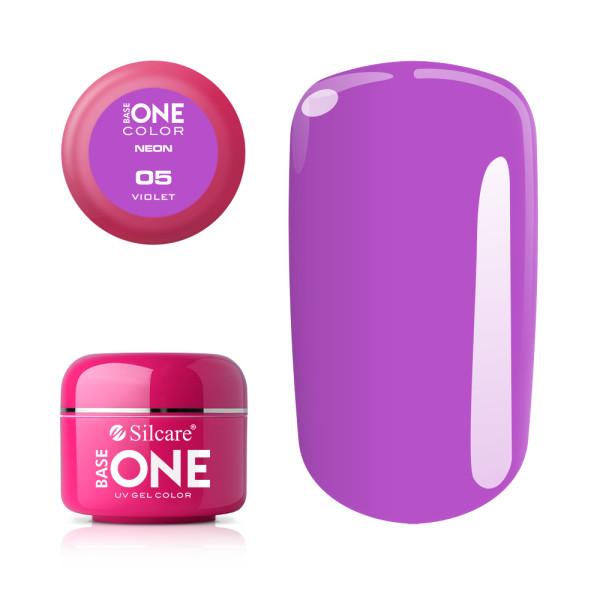 Gel UV Color Base One Silcare Neon Violet 05 baseone.ro
