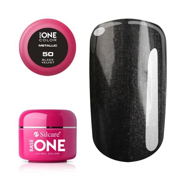 Gel UV Color Base One 5g Metalic Black Velvet 50 baseone.ro